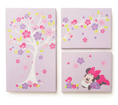 canvas wall art on baby canvas wall art with minnie mouse love blossoms premier 3 piece canvas wall art disney baby