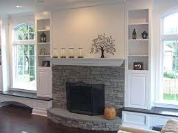 White Quartz Stacked Stone Veneer For Feature WallsStacked Stone Veneer Fireplace