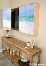 diy wall mounted tv cabinet idea with