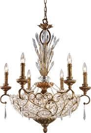elk lighting 2404 6 6 spanish bronze senecal crystal twelve light up down