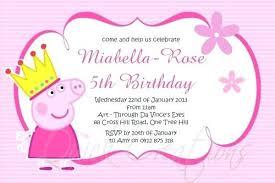 Tea Invitations Printable Birthday Tations Princess Pig On Tea Party Custom Tation Peppa
