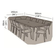 10 seater rectangular weather cover