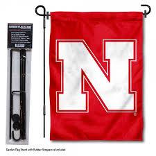 nebraska huskers n logo garden flag and