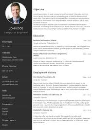 Resume Template One Page Free Souvenirs Enfancexyz