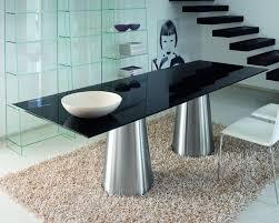 black table glass