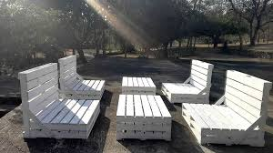 pallet outdoor furniture. 4 Piece Patio Set | White Pallet 8 Seater Pallet Outdoor Furniture