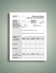 10 Best Catering Worksheet Examples Templates Download