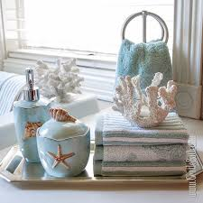 Decorative Accessories For Bathrooms Seafoam Serenity Coastal Themed Bath Decor Idea Beach Style 10