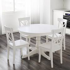 white dining room table. White Extendable Table INGATORP Dining Room T
