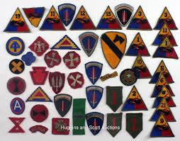 Us Army Patch Chart 500 Wwii Korean War Military Patches Rank Insignias And