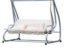 3 of 5 spare repair westwood beige garden metal swing hammock 3 seater chair sc05
