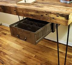 reclaimed wood desk made to order