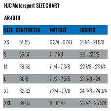Hjc Helmet Size Chart Hjc Hx 10 Iii Carbon Auto Racing Helmet Sa2015