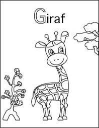 Kleurplaat G Van Giraf Letters Van De Namen Vd Kleuters