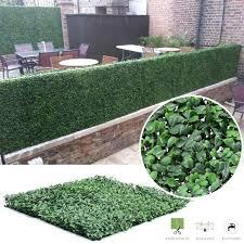 artificial grass wall 6 pack artificial hedge mat fence fake plant grass wall outdoor panels fake artificial grass wall