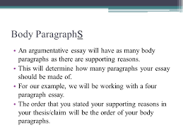 the argumentative essay ppt video online  8 body paragraphs an argumentative essay