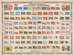 Flag Chart With Names File 1864 Johnson Chart Of The Flags And National Emblems Of