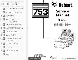 bobcat 753 g series skid steer loader service manual pdf, repair Bobcat 753 Loader Diagram Bobcat 753 Loader Diagram #61 753 Bobcat Sale