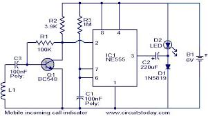 mobile incoming call indicator electronic circuits and diagram mobile incoming call indicator circuit jpg