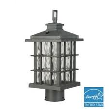Home Decorators Collection McCarthy 1Light Bronze Outdoor Post Home Decorators Collection Lighting