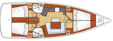 sailboats oceanis 45 sailing yacht beneteau two fore cabins for two hanging locker aft cabins storage on either side of the bed