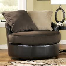 gemini chocolate round swivel chair by ashley furniture