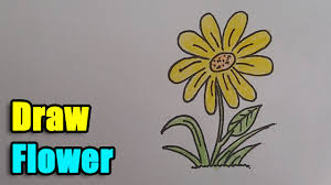 Small Picture How to Draw a Flower Step by Step and super easy YouTube