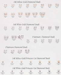Diamond Stud Size Chart Diamond Earrings Diamond Stud Earrings Size Guide