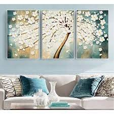 3 panel tree framed canvas print