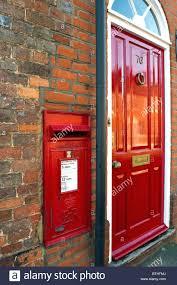 front door lettersFront Door Letter Decor Diy Letters Red Post Box Brick Wall Wreath