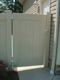 Privacy Vinyl Fence Gate Installation Outdoor Waco Vinyl Fence