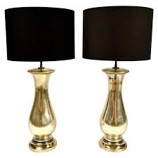 pair of modern mercury glass table lamps