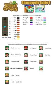 Shampoodle Guide Hair Color Animal Crossing Pinterest Animal