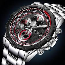 Men LIGE Waterproof <b>Top Luxury Sport</b> Watchs Men's Full Steel ...