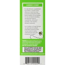 Zarbees Naturals Childrens Cough Syrup Mucus With Dark