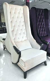 white tufted chair. White Velvet Accent Chair Modern And Classical Wing Back High Tufted W