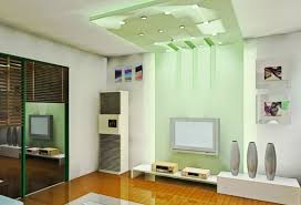 tv room lighting ideas. Light Green TV Wall And Ceiling In Living Room With Yellow Floor Tv Lighting Ideas