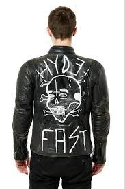 hand painted biker leather jacket one off 001 350 00