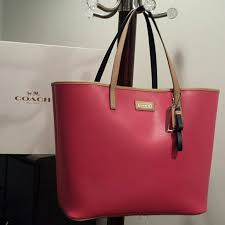 New Coach park metro large saffiano leather tote