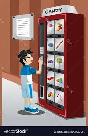 How To Get Free Candy From A Vending Machine Gorgeous Kid Buying Candy From A Vending Machine Royalty Free Vector
