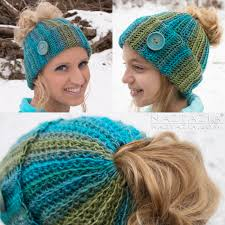 Free Crochet Pattern For Messy Bun Hat Extraordinary Crochet Ribbed Bun Hat By Donna Wolfe From Naztazia