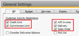 General Invoice Magnificent Credit Limit Settings In SAP Business One 4444 SAP Blogs