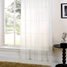emma barclay lucy plain voile slot top curtain panel white 60 x 48 inch linens limited