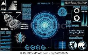 Sci Fi Chart Futuristic Sci Fi Modern Interface Abstract Hud