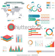 Location Chart Big Set Performance Chart Pie Charts Royalty Free Stock Image
