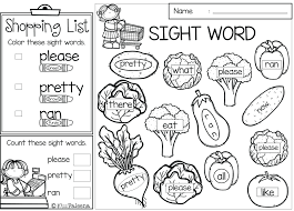 Sight Word Coloring Pages Free Printable And Color Words Wumingme