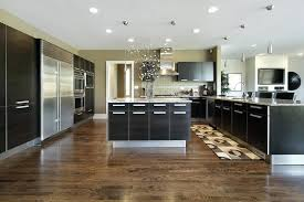 modern kitchen floors. Gray Kitchen Floor Black Cabinets Look Very Sleek And Stunning In This Modern Supported By Chrome Floors H