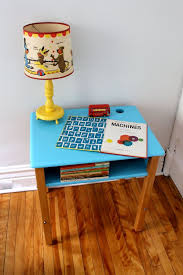 vintage upcycled childs wood school desk painted by pourtoujours 160 00
