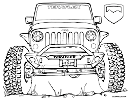 amazing jeep coloring pages police colouring safari army rubicon