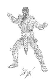 Small Picture Unique Mortal Kombat Coloring Pages 96 For Your Coloring Pages